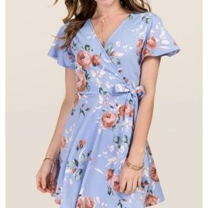 Floral Wrap Mini-dress
